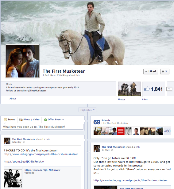 First Musketeer Facebook