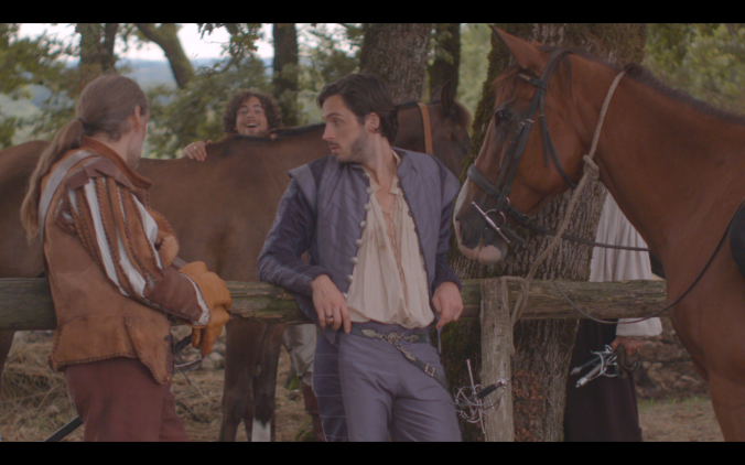 The Musketeers find a horse, Athos, Porthos